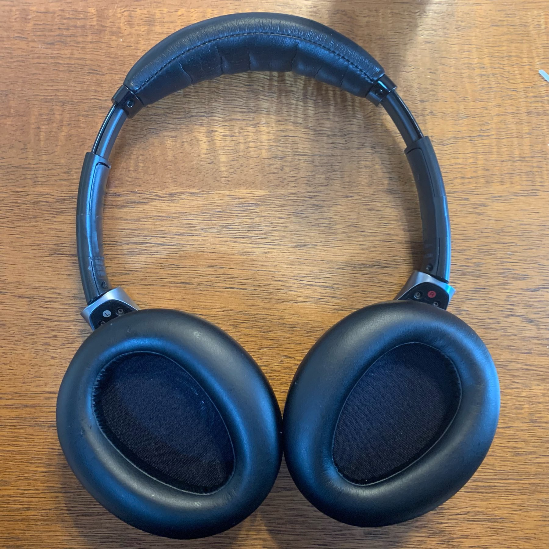 The same headphones with new ear pads. They look almost new!