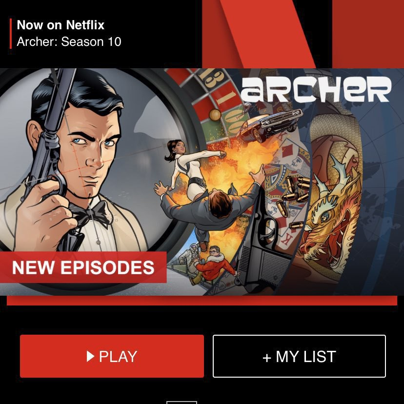A Netflix promotion for Archer Season 10