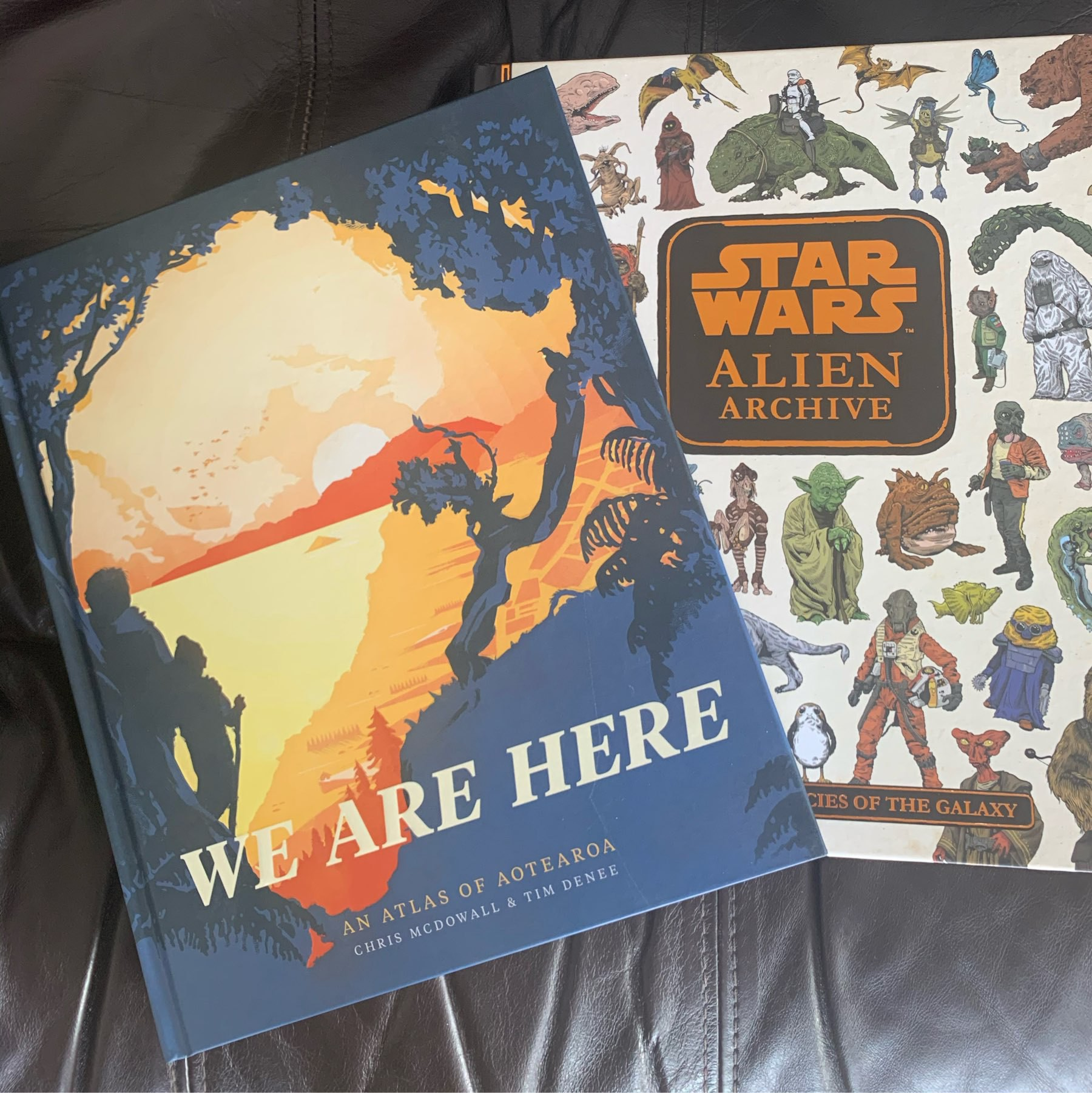 The Star Wars Alien Archive and We Are Here, a infographic atlas of Aoteatoa