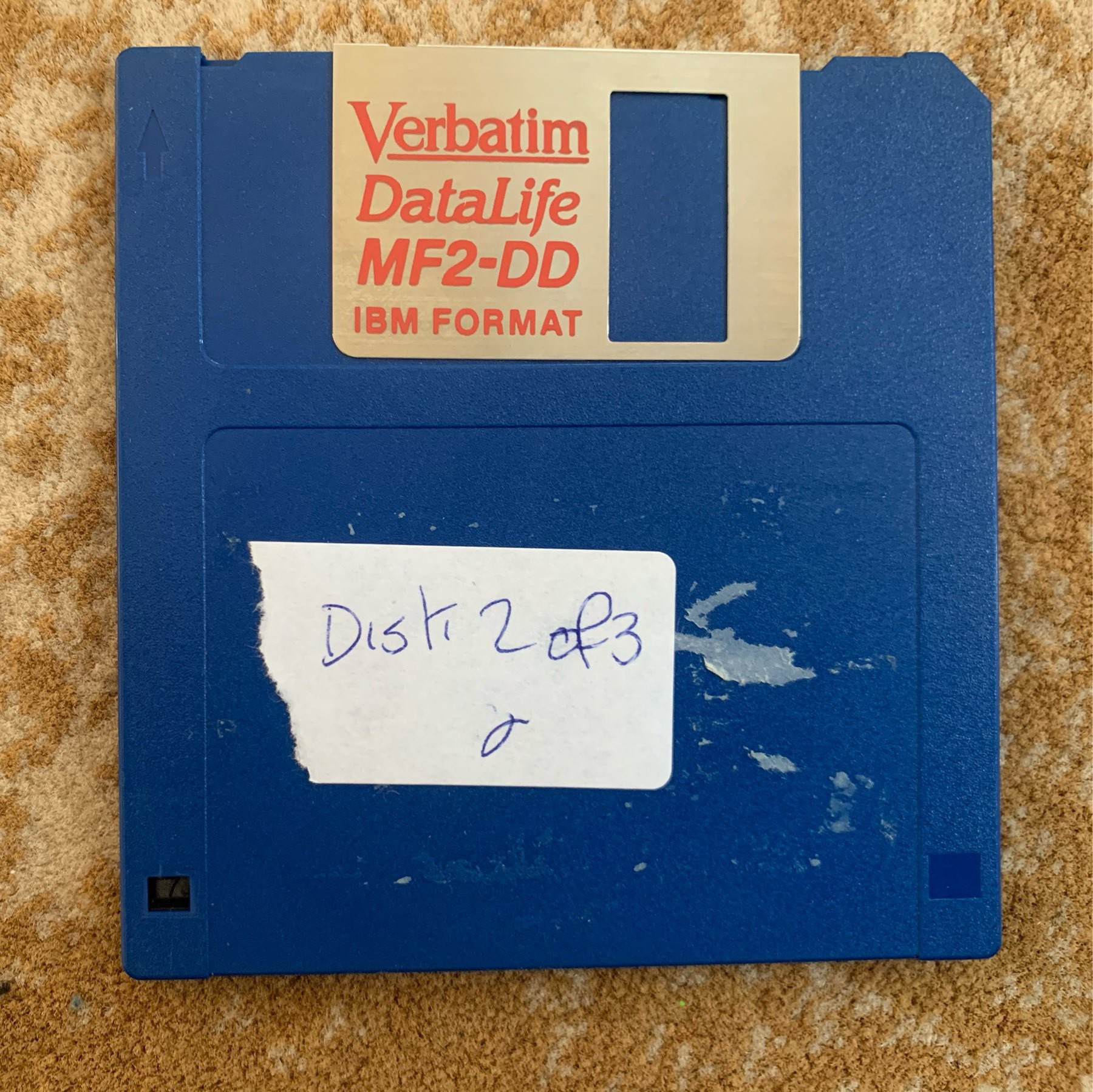 A floppy disk labelled Disk 2 of 3