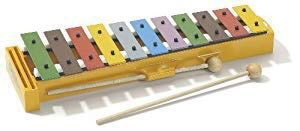A colourful glockenspiel