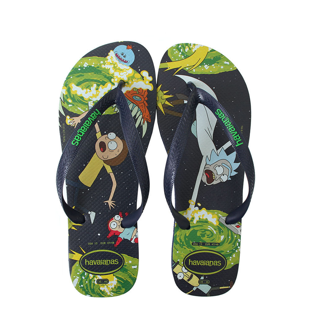 Rick and Morty themed jandal/flip flops