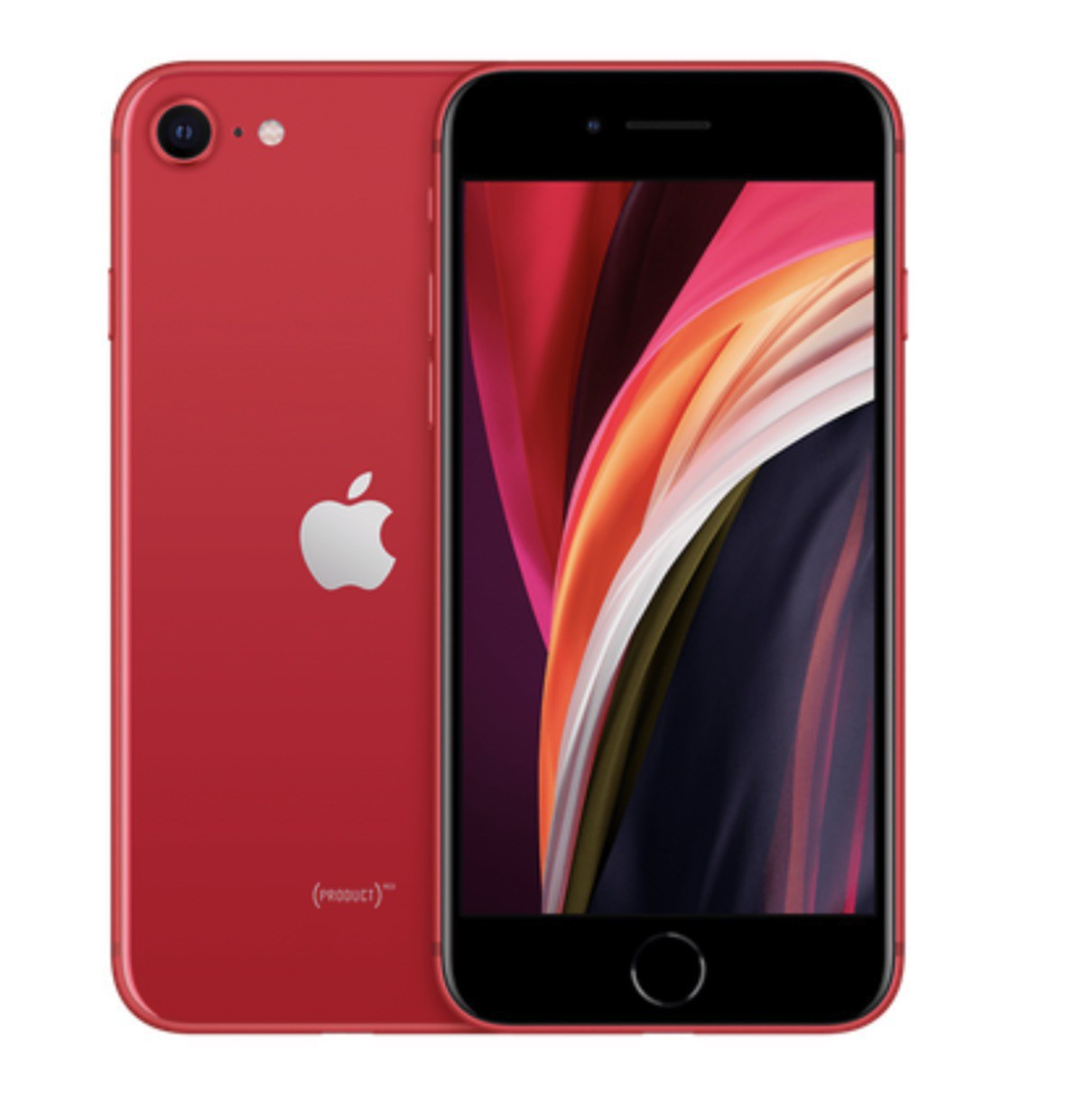 A red iPhone SE 2