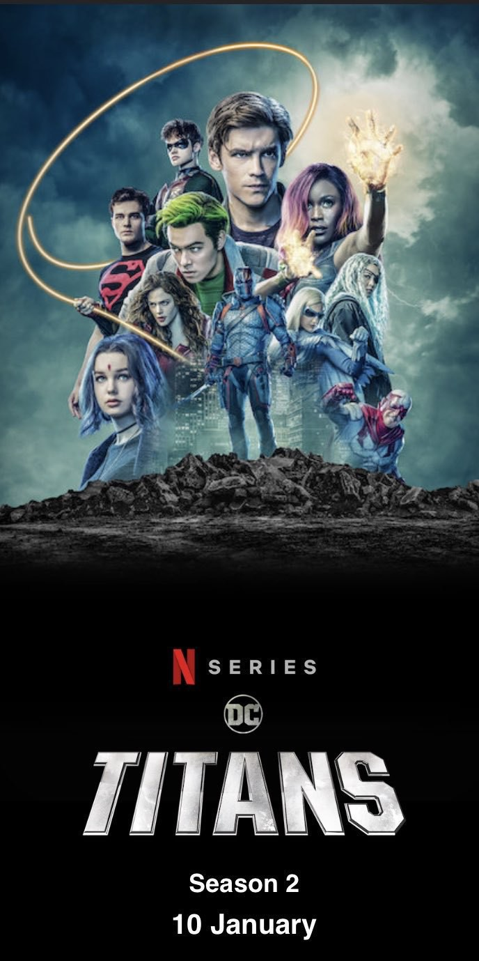 Promotional poster for Titans Season 2 on Netflix